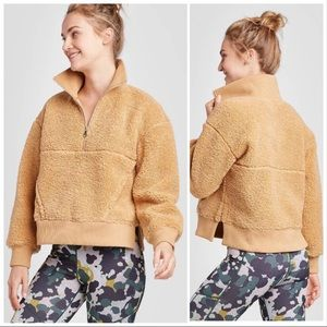 NEW Joy Lab Sherpa Sweatshirt Pullover Camel